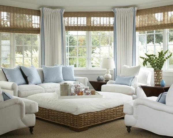 wohnzimmer einrichtungsideen rattan lounge möbel