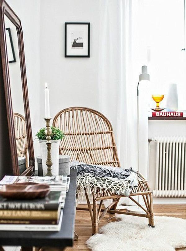wohnzimmer einrichtungsideen rattanmöbel rattan lounge möbel