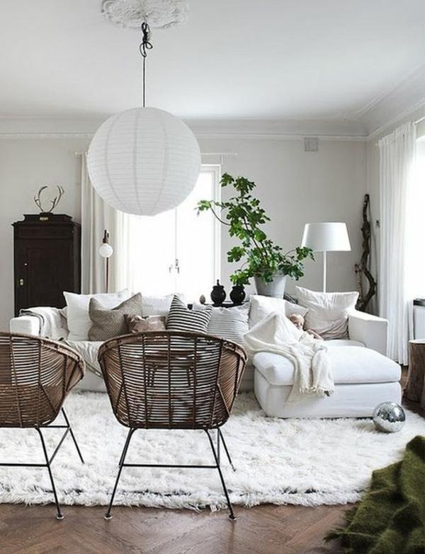 wohnzimmer einrichtungsideen wohnzimmermöbel rattanmöbel rattan lounge möbel