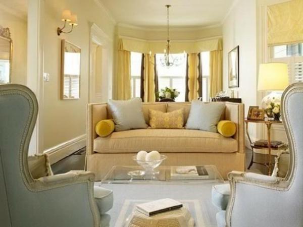 wohnzimmer farbgestaltung wandfarbe eierschalenfarben farbpalette gelb
