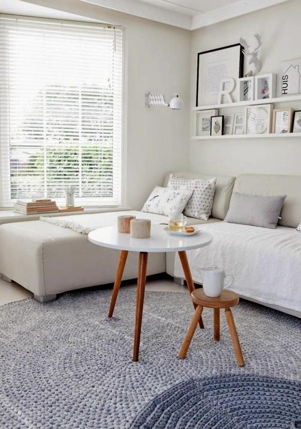 wohnzimmer gestaltung ideen bilder design couchtisch rund
