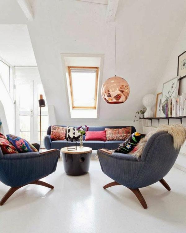 Wohnzimmereinrichtung Ideen Bilder Design Dachfenster
