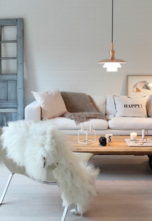 wohnzimmergestaltung ideen bilder design fell überzug