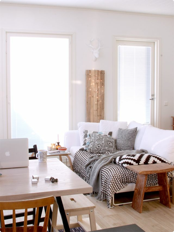 35 Wohnzimmergestaltung Bilder Fenster Ideen