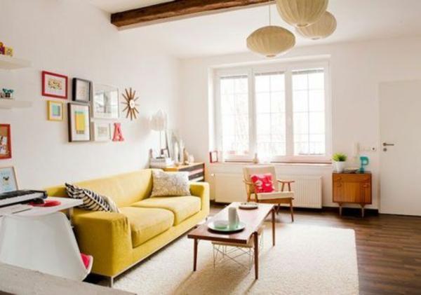 Wohnzimmer Gestaltung Ideen Bilder Design Gelb Sofa 50 Helle  Wohnzimmereinrichtung Ideen ...