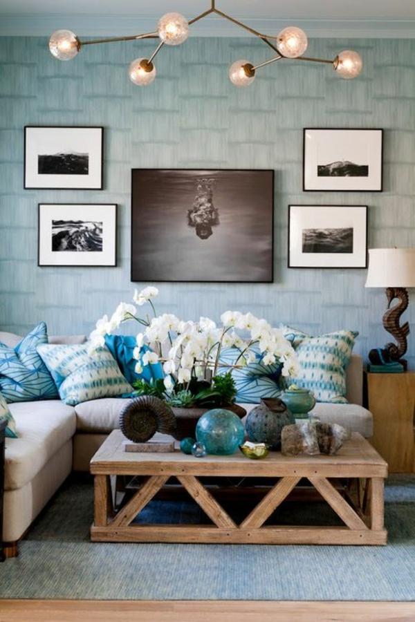 wohnzimmer ideen bilder design gemälde leuchten
