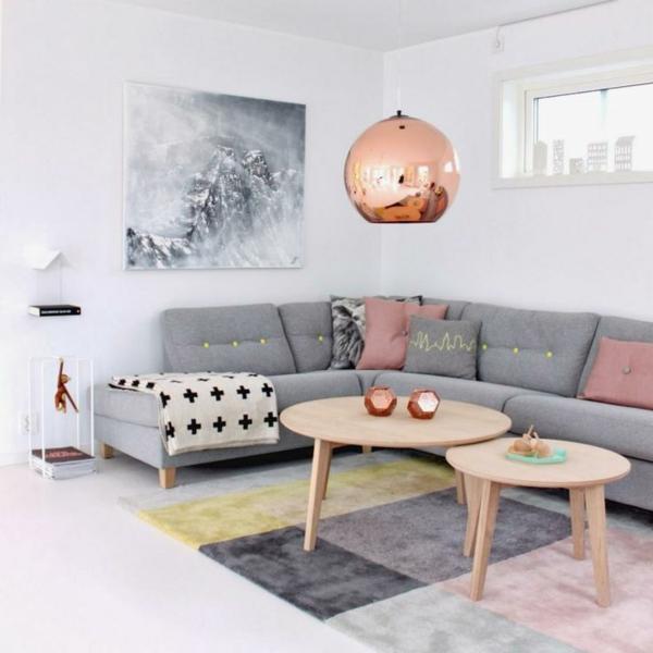 Wohnzimmergestaltung Ideen Bilder Design Pendelleuchte Messing 50 Helle  Wohnzimmereinrichtung Ideen .