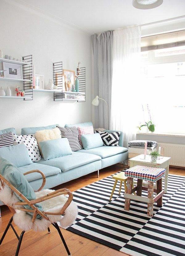 GroBartig Wohnzimmergestaltung Ideen Bilder Design Sofa Blau 50 Helle  Wohnzimmereinrichtung Ideen .