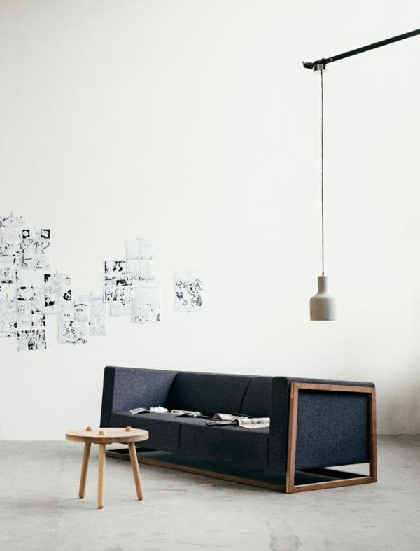 wohnzimmer ideen bilder design sofa hängelampe