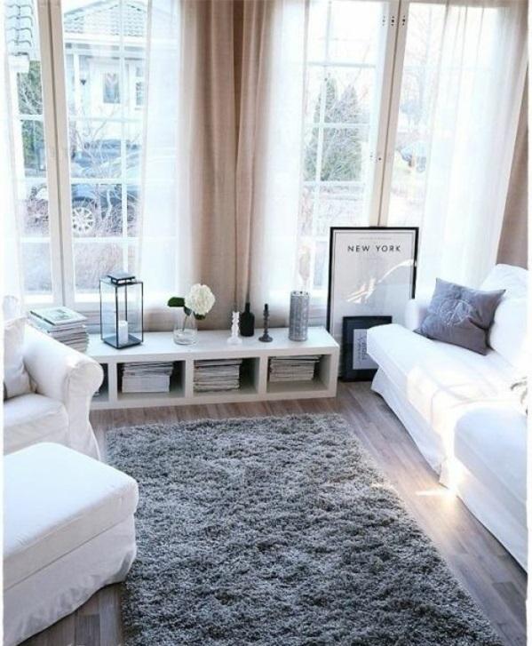 wohnzimmergestaltung ideen bilder design sofa weiß