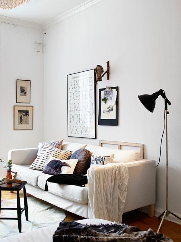 wohnzimmer einrichten ideen bilder design stehlampe couch