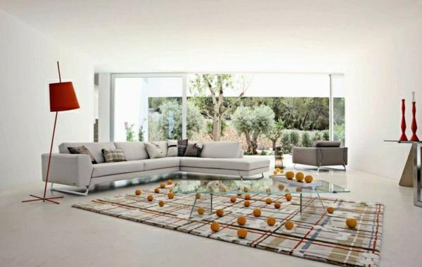 Gestaltung Ideen Bilder Design Wohnlandschaft Wohnzimmer
