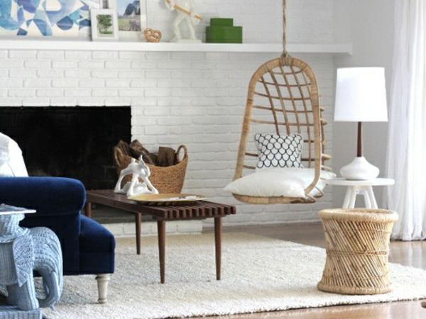 wohnzimmermöbel flechtmöbel rattan lounge möbel hängekorbsessel hocker