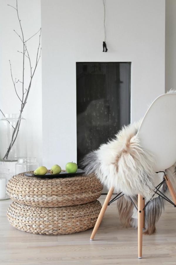 wohnzimmermöbel rattan lounge möbel sitzkissen rattan fellauflagen