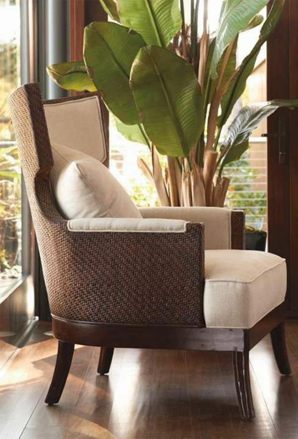 wohnzimmermöbel rattanmöbel rattan lounge möbel sessel holz und rattan