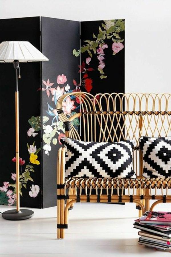wohnzimmermöbel vintage:wohnzimmermöbel rattanmöbel sofa wohnzimmer einrichtungsideen lounge