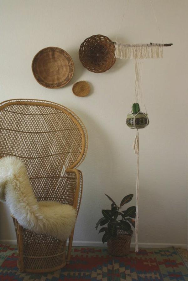 wohnzimmertisch wintergartenmöbel rattanmöbel flechtstuhl fellauflage