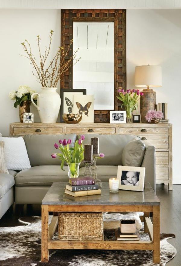 wohnzimmertische holz couchtisch wohnzimmer rustikal einrichten