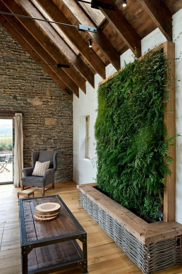 Zimmerpflanzen Pflegeleicht Vertikaler Garten Kreative Wandgestaltung Wohnzimmer