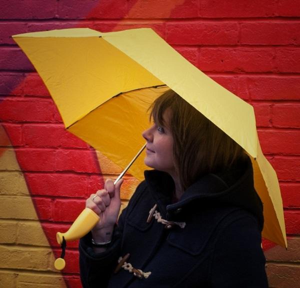 Geschenke für Freunde  banane regenschirm