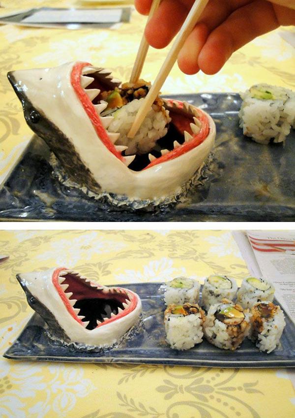 Außergewöhnliche Geschenke Freunde  haifisch sushi