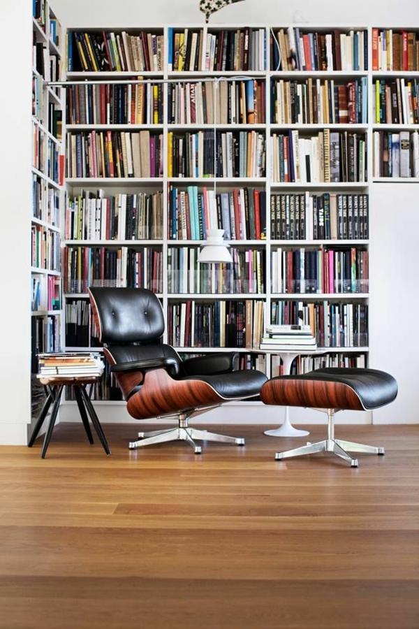 Charles Eames Lounge Chair leseecke hausbibliothek