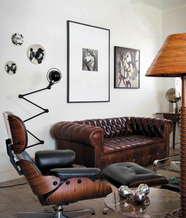 Charles Eames Lounge Chair wohnzimmermöbel ledersessel sofa