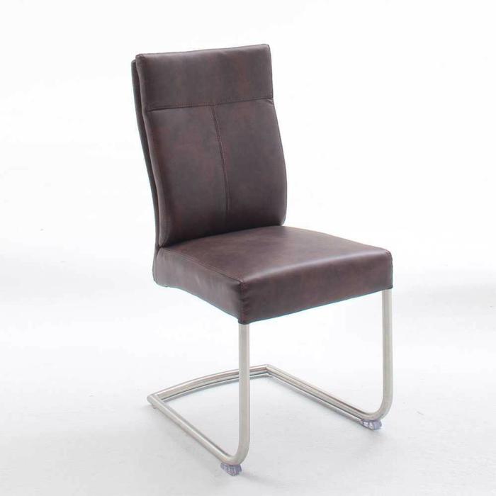 Freischwinger stühle Designer stühle Loprossa in Dunkelbraun