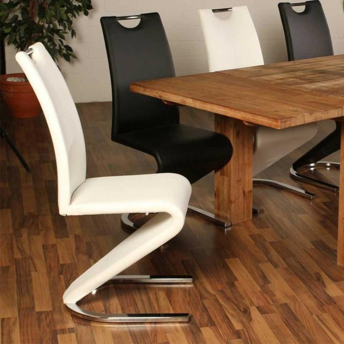 Freischwinger stühle Designer stühle Polsterstuhl Kerry in Weiс