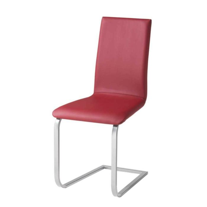 Freischwinger stühle Designer stühle Sorino in Rot