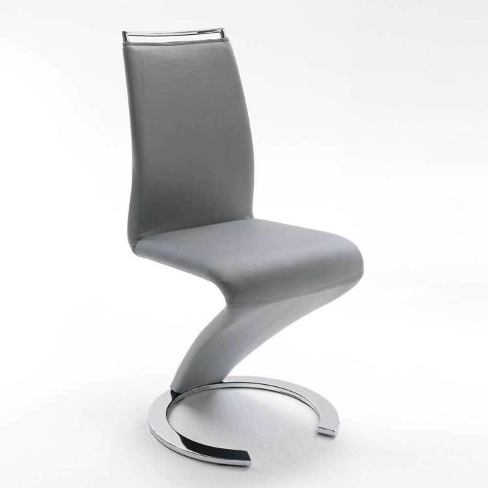 Freischwinger stühle Designer stühle Sumatria in Grau