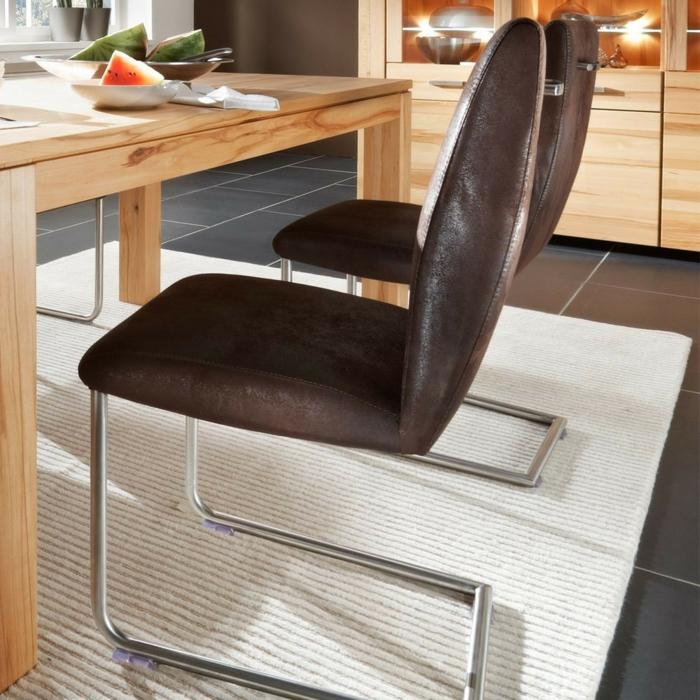 Freischwinger stühle Designer stühle antik Jerome braun