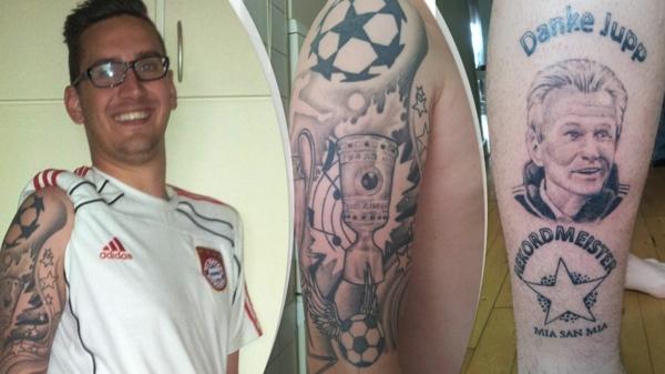 Fussball Tattoos bilder stars fc bayern