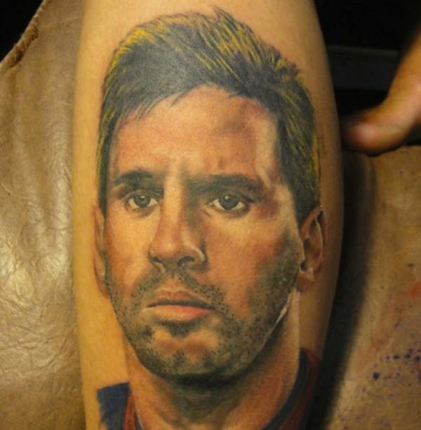 Tattoos bilder Fussball stars lionel messi