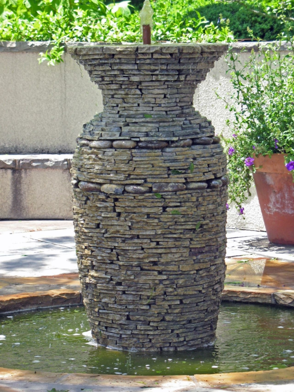 Gartengestaltungsideen gefäß steine