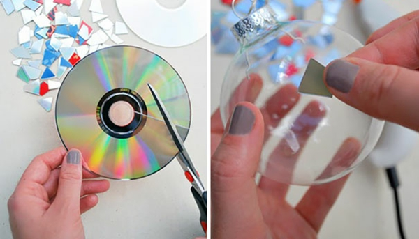 Gebrauchte DVDs diy projekte bastelideen kleben