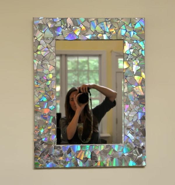 Gebrauchte DVDs  diy projekte bastelideen spiegelrahmen