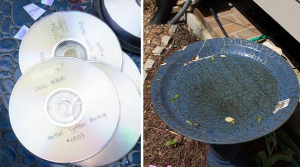 Gebrauchte teller DVDs  diy projekte bastelideen