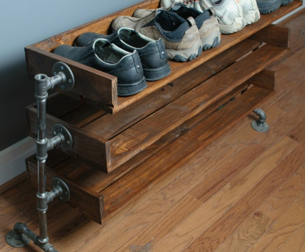 Uberlegen ... Selber Bauen Rohre Holz Industrial Design Möbel Für Mehr Stil In Ihrem  Wohnraum ...