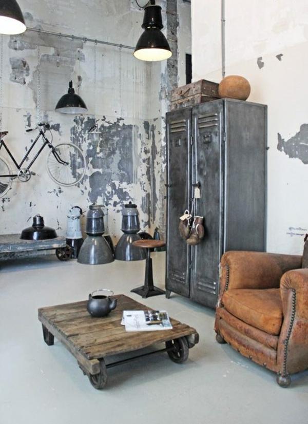 couchtisch industrial design ihr traumhaus ideen. Black Bedroom Furniture Sets. Home Design Ideas