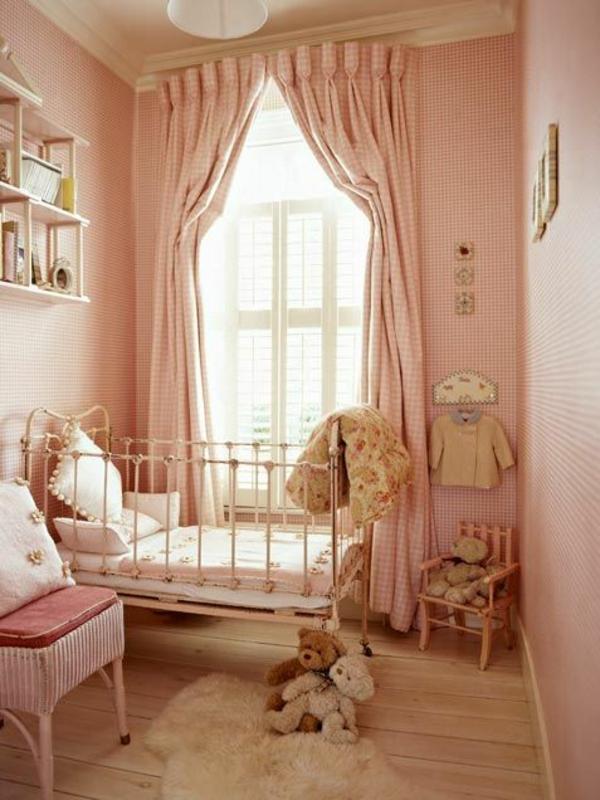 Kinderzimmer Gardinen altrosa vorhänge