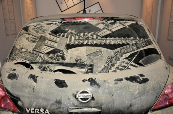 Kunst Staub autoscheiben art