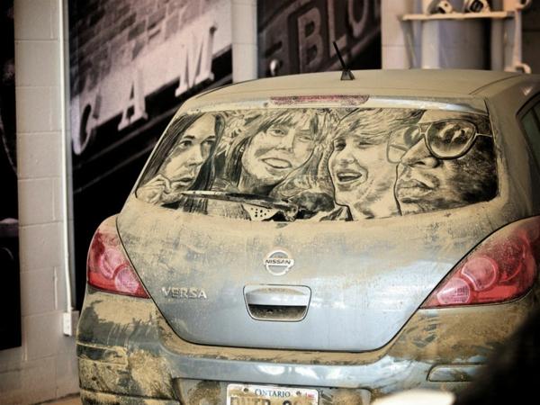 Kunst aus Staub autoscheiben helden