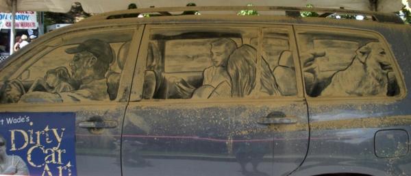 Kunst aus Staub reisen autoscheiben