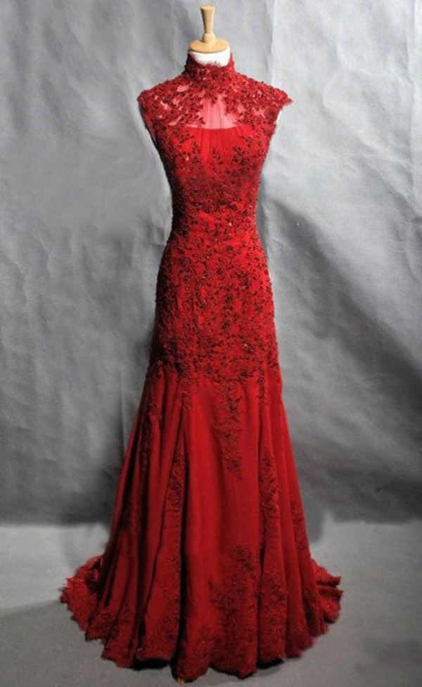 Lange Abendkleider leuchtend rot