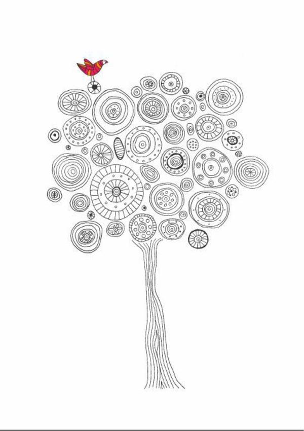 Mandala Vorlagen baumkrone