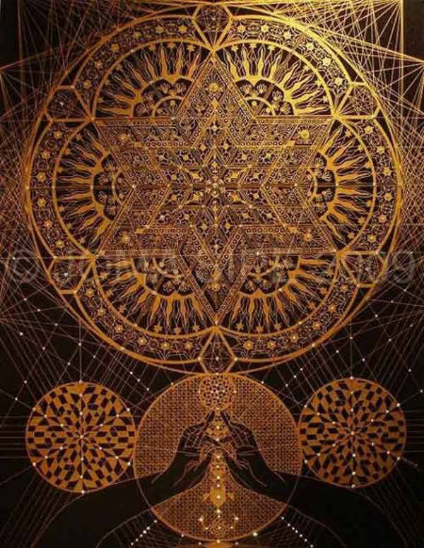 Mandala Vorlagen golden kunst motive