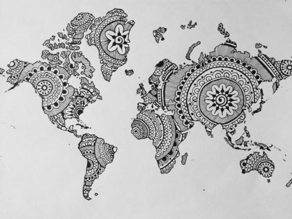 Mandala zum Ausdrucken landkarte