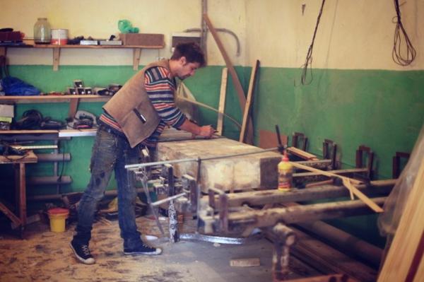Mosaik Holzspüle bearbeiten idee