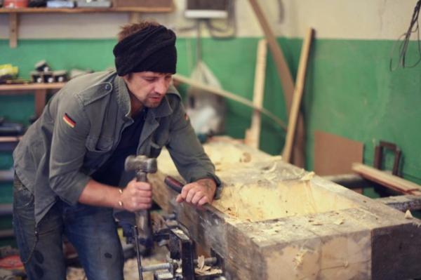 Mosaik Holzspüle entwerfen werkstätte